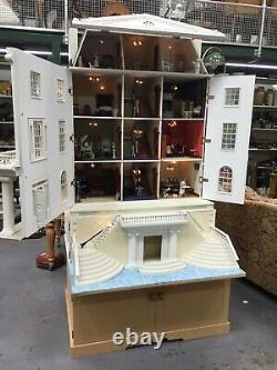 Superb Large Collectors Dolls House And Basement With Lights And Furniture