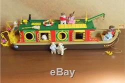 Sylvanian Families Canal Boat Ermine Otter Family Calico Critters Vintage Rare