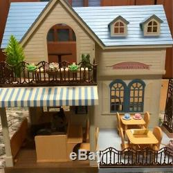 Sylvanian Families Very Rare Blue roof house forest kitchen 201