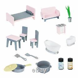 Teamson Kids'Wonderland' Children's 2 in 1 Doll House & Play Kitchen TD-12515P
