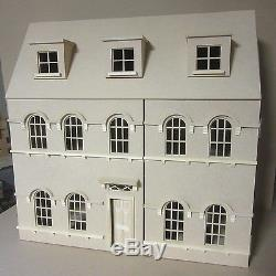 The Abbey House 1/12th scale Georgian Mansion, 6 Large Rooms