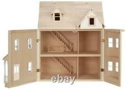 The Ashburton Dolls House Unpainted Flat Pack Kit 112 Scale