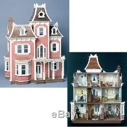 The Beacon Hill Dollhouse Kit Victorian Wooden Wood Doll House Heirloom Gift New