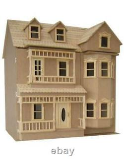The Exmouth Dolls House Unpainted Flat Pack Kit 112 Scale