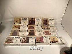 The House Of Miniatures DollHouse Furniture Lot Designed In USA