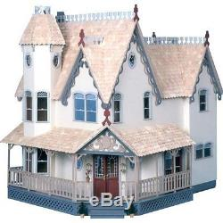 The Lovely Grand Gingerbread Victorian Dollhouse Wood Kit Large Brand New