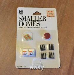 Tomy Smaller Homes Dollhouse Kitchen Food Hamburger Pepsi Cherry Pie Pieces