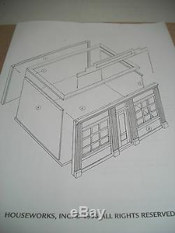 Two Window Shop Kit by Houseworks 9993 unfinished wood 1/12 scale dollhouse