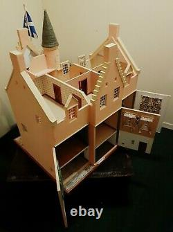 Unbelievable 17 Room Dolls House Castle Handmade One Of A Kind fully furnished