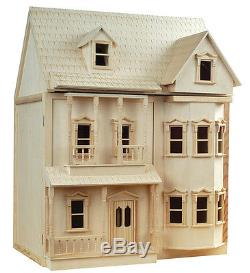 Victorian Dollshouse ASHBURTON Dolls House DH001 Inc Bay Fronts Christmas Gift
