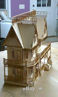 Victorian Farmhouse 124 Scale Dollhouse kit 9 rooms