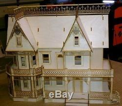 Victorian Farmhouse HALF INCH Scale Dollhouse kit 9 rooms