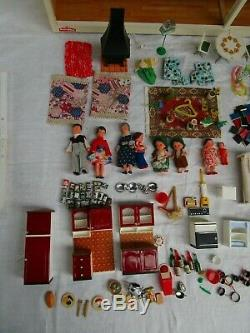 Vintage 1970 Retro Lundby Stockholm Dolls House With All Original Accessories