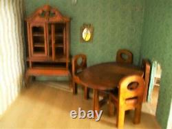 Vintage Doll House Triang LINES Bros 1925/1930 for tlc PLUS FURNITURE
