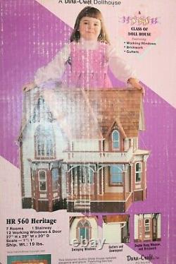 Vintage Dura Craft Heritage HR560 Dollhouse Kit Victorian Mansion New Sealed