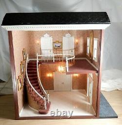 Vintage Electric Grand Staircase Roombox Artisan Dollhouse Miniature 112 OOAK