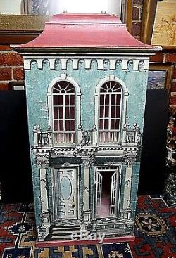 Vintage Eric Lamsdown San Francisco Hand Made Trompe l'oeil Doll House 1988