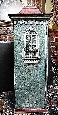 Vintage Eric Lansdown San Francisco Hand Made Trompe l'oeil Doll House 1988