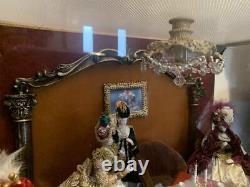 Vintage French Ballroom Dance Bisque Porcelain Doll Dollhouse