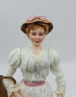 Vintage Gina Bellous Victorian Woman Doll Artisan Dollhouse Miniature 112