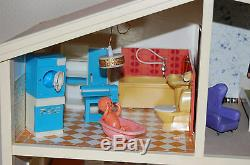 Vintage LUNDBY 4 Levels Doll House & Accessories PACKED FULL Stunning