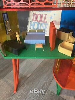 Vintage Louis Marx Imagination Doll House withBox & Accessories