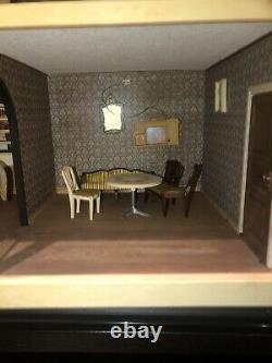 Vintage Lundby 1979 Stockholm Dolls House With Rare Furniture