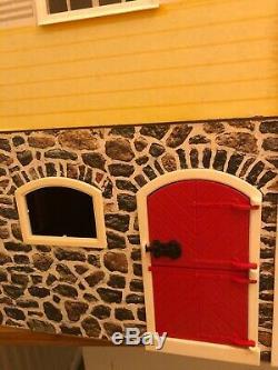 Vintage Lundby Doll House Stockholm Sweden With Extension Basement