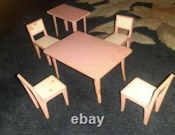 Vintage Lundby Dollhouse WithBox, Lot Of Dollhouse Furniture & Dolls #6002