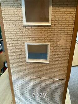 Vintage Lundby Dolls House 1970s with basement and balcony and some furniture