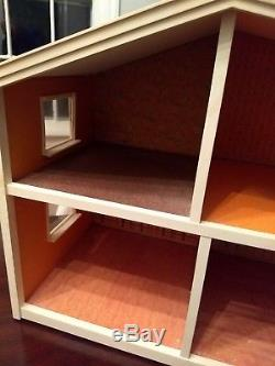Vintage Lundby Gothenburg Doll House 1970s Sweden Two Story plastic doors