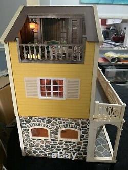 Vintage Lundby Stockholm Dolls house With Basement Fully Furnished