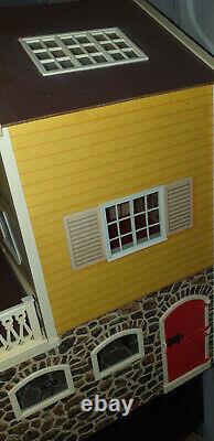 Vintage Lundby Stockholm Dollshouse With Basement & Stable/garage