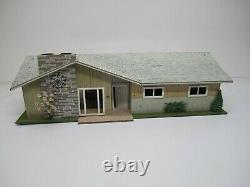 Vtg C1960s Marx Contemporary Tin Litho Doll House Rooster Ranch MCM & Furniture