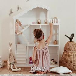 WODENY Dollhouse White Wooden Kids Bookshelf Bookcase for Girls Boys GiftUK