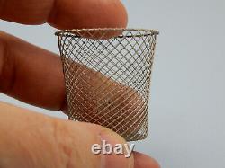 William Bill R. Robertson Miniature wire wastebasket dollhouse, IGMA artist 1/12