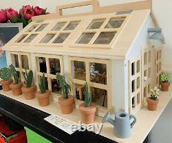 Wooden Toy Hearth & Hand with Magnolia Greenhouse Or Dollhouse & Vtg Furniture